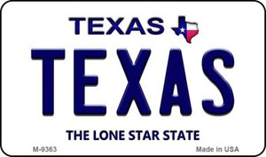 Texas Texas Background Wholesale Novelty Metal Magnet