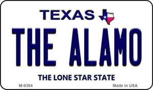 Alamo Texas Background Wholesale Novelty Metal Magnet