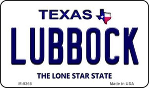 Lubbock Texas Background Wholesale Novelty Metal Magnet