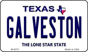Galveston Texas Background Wholesale Novelty Metal Magnet