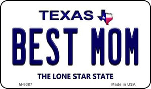 Best Mom Texas Background Wholesale Novelty Metal Magnet