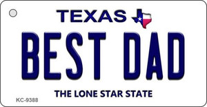 Best Dad Texas Background Wholesale Novelty Key Chain