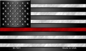 American Flag Thin Red Line Wholesale Novelty Magnet