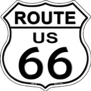 Route 66 Highway Shield Wholesale Novelty Metal Magnet HSM-100