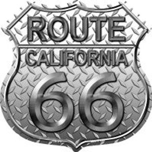 Route 66 California Diamond Highway Shield Wholesale Novelty Metal Magnet