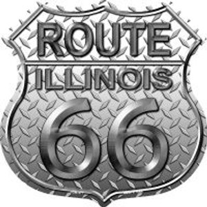 Route 66 Illinois Diamond Highway Shield Wholesale Novelty Metal Magnet