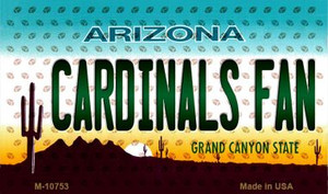 Cardinals Fan Arizona Background Novelty Wholesale Metal Magnet