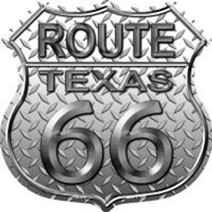 Route 66 Texas Diamond Highway Shield Wholesale Novelty Metal Magnet