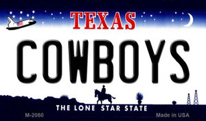 Cowboys Texas State Background Novelty Wholesale Metal Magnet M-2060