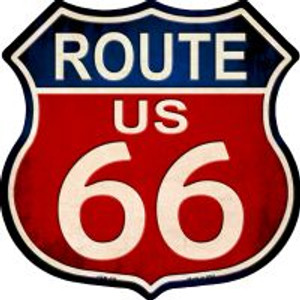 Route 66 Vintage Highway Shield Wholesale Novelty Metal Magnet