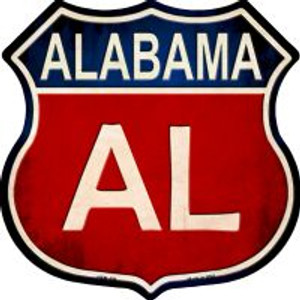 Alabama Highway Shield Wholesale Novelty Metal Magnet