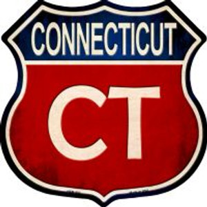 Connecticut Highway Shield Wholesale Novelty Metal Magnet