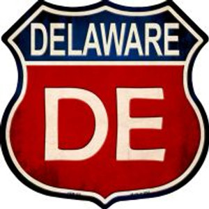 Delaware Highway Shield Wholesale Novelty Metal Magnet