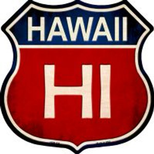 Hawaii Highway Shield Wholesale Novelty Metal Magnet