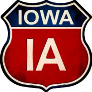 Iowa Highway Shield Wholesale Novelty Metal Magnet