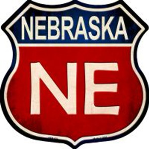 Nebraska Highway Shield Wholesale Novelty Metal Magnet