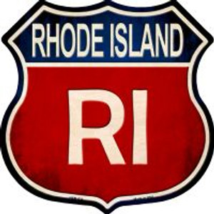 Rhode Island Highway Shield Novelty Metal Magnet
