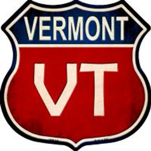 Vermont Highway Shield Novelty Metal Magnet