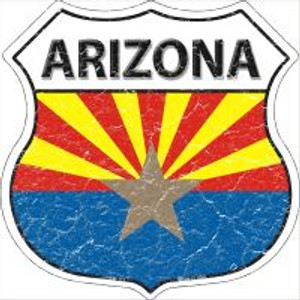 Arizona State Flag Highway Shield Novelty Metal Magnet