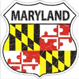 Maryland State Flag Highway Shield Novelty Metal Magnet
