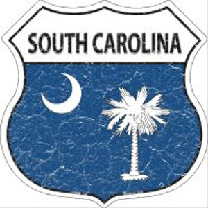 South Carolina State Flag Highway Shield Novelty Metal Magnet