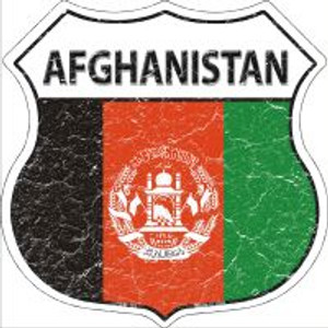 Afghanistan Flag Highway Shield Novelty Metal Magnet