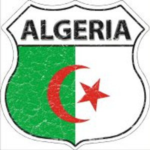 Algeria Flag Highway Shield Novelty Metal Magnet