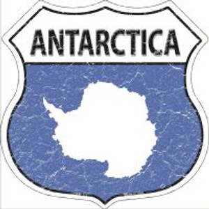 Antarctica Flag Highway Shield Shield Metal Magnet