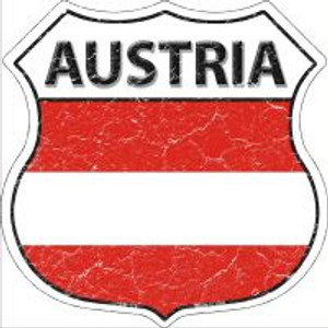 Austria Flag Highway Shield Novelty Metal Magnet