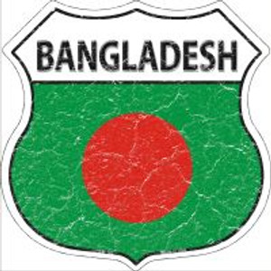 Bangladesh Flag Highway Shield Novelty Metal Magnet