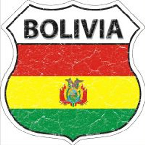 Bolivia Flag Highway Shield Novelty Metal Magnet
