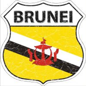 Brunei Flag Highway Shield Novelty Metal Magnet