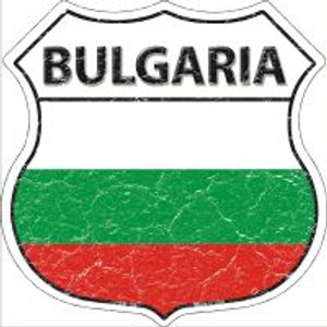 Bulgaria Flag Highway Shield Novelty Metal Magnet