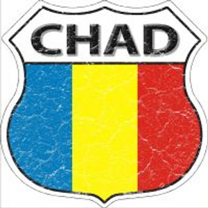 Chad Flag Highway Shield Novelty Metal Magnet