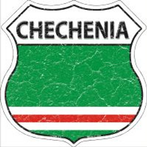 Chechenia Flag Highway Shield Novelty Metal Magnet