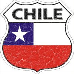 Chile Flag Highway Shield Novelty Metal Magnet