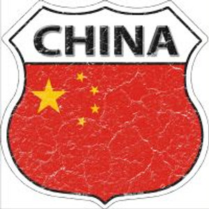 China Flag Highway Shield Novelty Metal Magnet