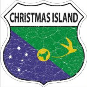 Christmas Island Flag Highway Shield Novelty Metal Magnet