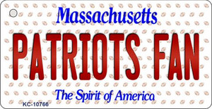 Patriots Fan Massachusetts Background Novelty Wholesale Metal Key Chain KC-10766