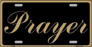 Prayer Wholesale Metal Novelty License Plate