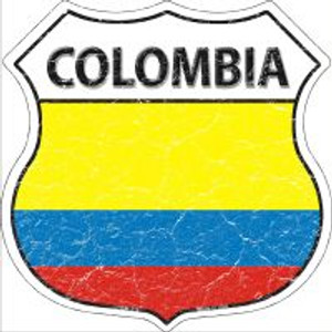 Colombia Flag Highway Shield Novelty Metal Magnet