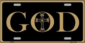God Wholesale Metal Novelty License Plate