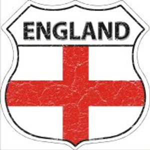 England Flag Highway Shield Novelty Metal Magnet