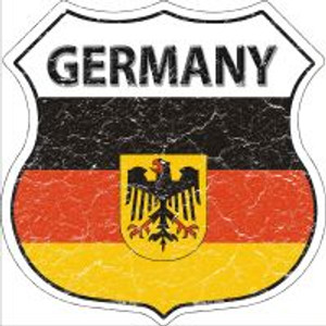 Germany Flag Highway Shield Novelty Metal Magnet