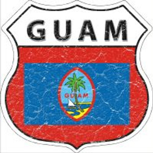 Guam Flag Highway Shield Novelty Metal Magnet