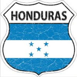 Honduras Flag Highway Shield Novelty Metal Magnet
