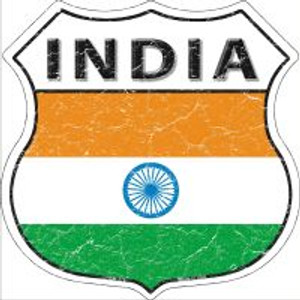 India Flag Highway Shield Novelty Metal Magnet