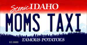 Mom's Taxi Idaho State Background Wholesale Metal Novelty Key Chain