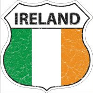 Ireland Flag Highway Shield Novelty Metal Magnet