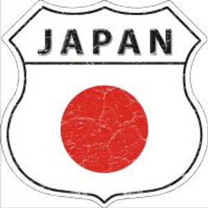 Japan Flag Highway Shield Novelty Metal Magnet